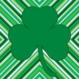 Shamrock. Green and white pattern for St. Patrick's Day card with shamrock Royalty Free Stock Photo