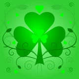 Shamrock. Illustration of saint patricks day shamrock background Stock Images
