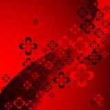 Shamrock abstract pattern Stock Image