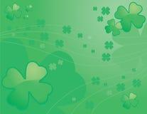 Shamrock Background. A green four leaf clover background design Royalty Free Stock Photo