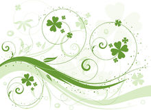 Shamrock background royalty free illustration