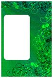Shamrock background card Stock Photo