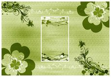 Shamrock background card Royalty Free Stock Photo