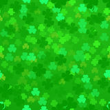 Shamrock background. Illustration of a seamless shamrock pattern Stock Image