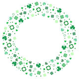 SHAMROCK BACKGROUND. St. Patrick`s day frame with green shamrock Royalty Free Stock Photography