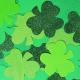 Shamrock background. St. Patricks Day. Shamrock green background. Patricks Day Stock Image