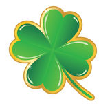 Shamrock badge. On white background Royalty Free Stock Photo