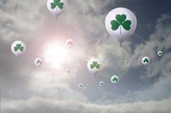 Shamrock balloons Royalty Free Stock Image