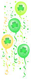 Shamrock Balloons Confetti/eps Royalty Free Stock Photo