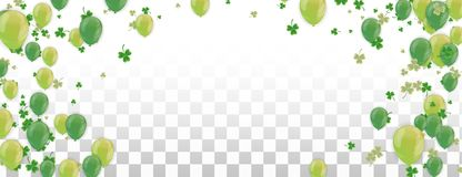 Shamrock and balloons green vector Illustration of a St. Patrick`s Day Background. Eps.10 vector illustration