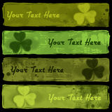 Shamrock Banners Stock Images