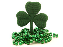 Shamrock and beads Stock Photo