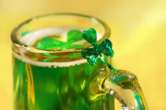 Shamrock and beer Stock Images