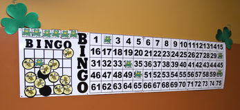 Shamrock Bingo Royalty Free Stock Photo