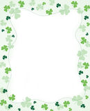Shamrock Border. Four leaf cloves / shamrock border for st, patrick's day designs vector illustration