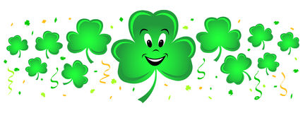 Shamrock Border confetti/eps Royalty Free Stock Image