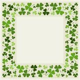 Clover border  - vector. Clover leafs border -  St. Patrick's day designs. The vector version can be scaled to any size without loss of quality. Eps file Royalty Free Stock Photo