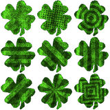 Shamrock burnt parchment - pack 3 Stock Photography