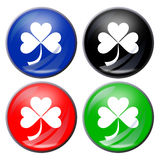 Shamrock button Royalty Free Stock Photo