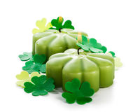 Shamrock candles Royalty Free Stock Image