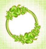 Shamrock card for Saint Patrick day Stock Image