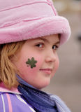 Shamrock on Cheek Stock Images