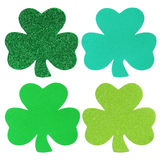 Shamrock Clover Collection isolated. St. Patrick's Day. Royalty Free Stock Photography