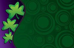 Shamrock clover design. Shamrock 3 clover leaf design to celebrate St. Patrick's Day which is celebrated on 15th of March stock illustration