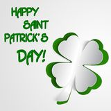 Shamrock, clover design, for St. Patrick's Day Royalty Free Stock Photos