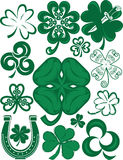 Shamrock Collection Royalty Free Stock Photography