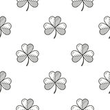 Shamrock contour seamless template Royalty Free Stock Images