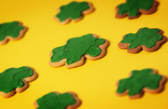 Shamrock Cookie Pattern Stock Images