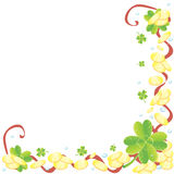 Shamrock corner Royalty Free Stock Images