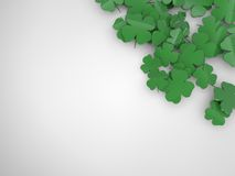 Shamrock corner background Stock Photography