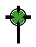 Shamrock Cross Royalty Free Stock Images