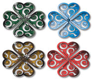 Shamrock design four colors Stock Images