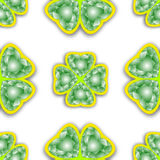 Shamrock diamonds pattern Stock Image