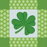 Shamrock Digital Embroidery Royalty Free Stock Images