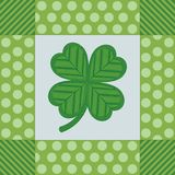 Shamrock Digital Embroidery Royalty Free Stock Image