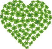 Shamrock do coração Fotografia de Stock Royalty Free