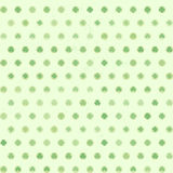 Shamrock Dots pattern Royalty Free Stock Photography