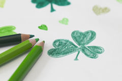 Shamrock drawing Royalty Free Stock Images