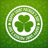 Shamrock emblem Royalty Free Stock Image