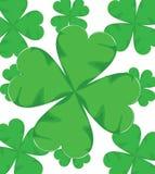 Shamrock für Illustration St. Patrick Day auf Weiß Lizenzfreies Stockfoto
