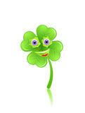 Shamrock face with eyes and smile Royalty Free Stock Images
