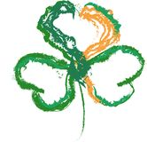 Shamrock Flag Irish St. Patrick`s Day. Vector illustration of a shamrock using the republic of Ireland flag colors. Celebrate St.Patrick`s day. Luck of the Irish Royalty Free Stock Images