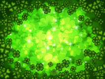 Shamrock Four Leaf Clover Background Royalty Free Stock Photo