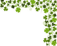 Shamrock & Four Leaf Clover Border Royalty Free Stock Photo