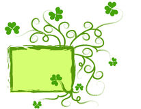 Shamrock frame Stock Photo