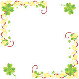 Shamrock frame Royalty Free Stock Photos